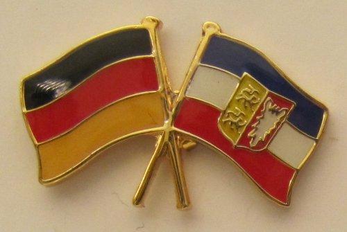 Schleswig Holstein / Deutschland Freundschafts Pin Anstecker Flagge Fahne Nationalflagge Doppelpin Flaggenpin Badge Button Flaggen Clip Anstecknadel