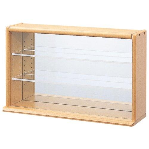ナカバヤシ コレクションケース ミニワイド 透明アクリル棚板タイプ CCM-002LS ライトブラウン