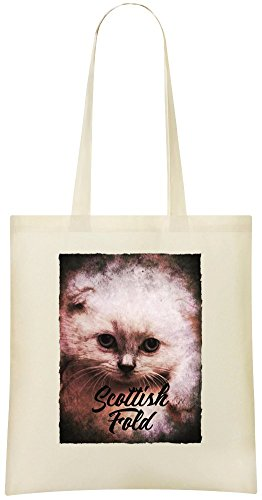 Scottish Fold Blätterteig - Scottish Fold Puff Custom Printed Grocery Tote Bag - 100% Soft Cotton - Eco-Friendly & Stylish Handbag For Everyday Use - Custom Shoulder Bags