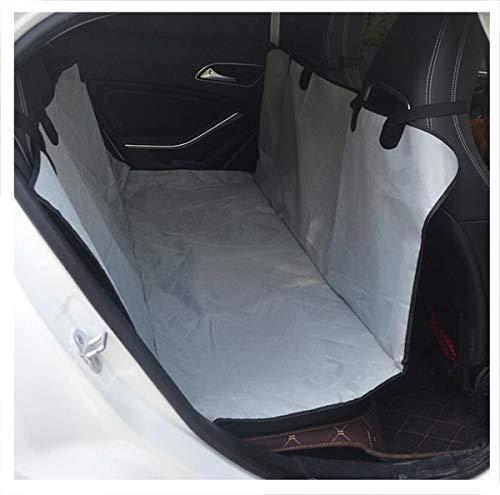 BYCDD huisdier stoelhoezen voor auto's achterbank, waterdichte hond stoelhoezen Cover Protector Nonslip hond hangmat gemakkelijk schoon te maken voor auto's vrachtwagens en SUV's, 147X135CM, Gray-A