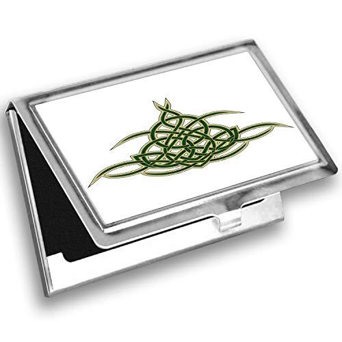 Lunarable Celtic Card Holder, Celtic Shield Scotland, Metal Card Wallet