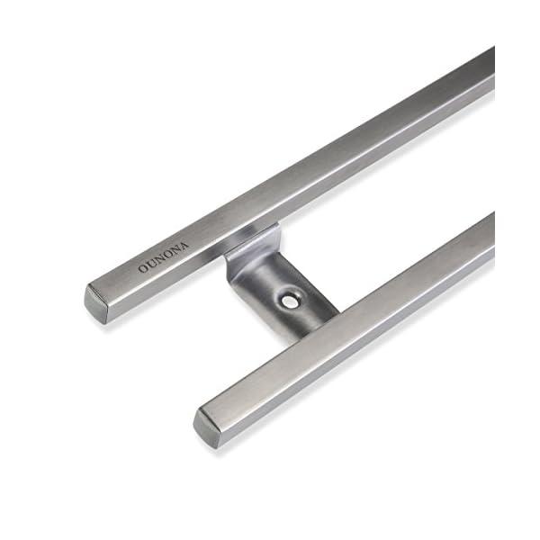 Soporte magnético de cuchillos, de Ounona, acero inoxidable, 6ganchos extraíbles