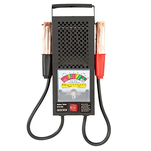 OEM TOOLS 24338 100A Battery Tester | Test The Health 6 or 12 Volt | Works for Cars, Trucks, RVs, Golf Carts | Easy to Read Analog Display | Powerful & Simple