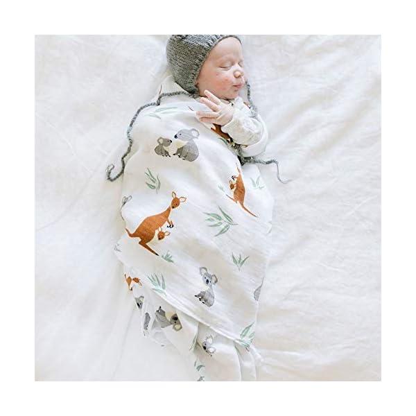 Swaddle Blanket with Australian Animals Design Super Soft Muslin Swaddle Blankets (Down Under Design)