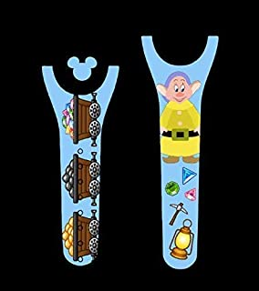 Vinyl Skin Decal Wrap Sticker Cover for the MagicBand 2 Magic Band 2 Silly Dwarf Mining Themed
