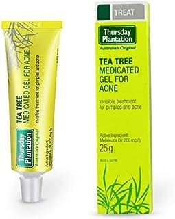 پنجشنبه Plantation Tea Tree Tree Gel برای کرم رفع آکنه ترمیم کننده پوست نقاط مرطوب کننده آکنه لکه های آکنه درمان آکنه