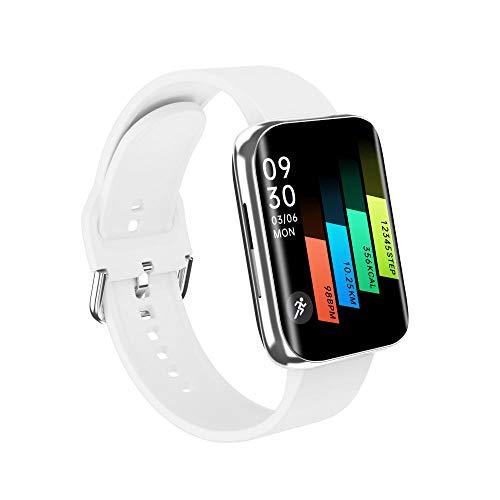 Yumanluo Smartwatch,Reloj Resistente al Agua de Superficie, Pulsera de Control de la Salud del Paso de Bluetooth-Blanco,Reloj Inteligente con Pulsómetro