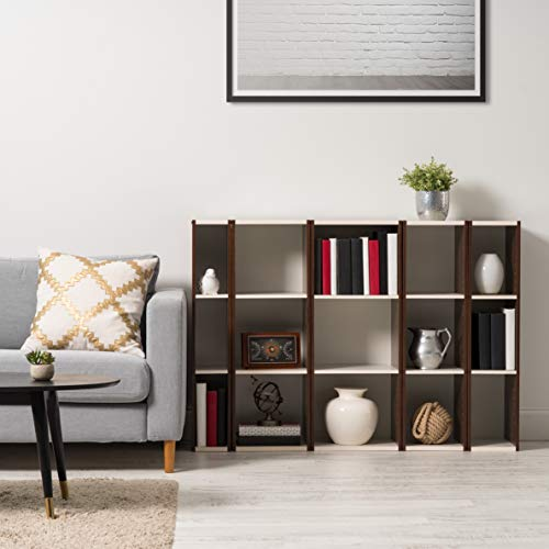 a custom storage solution is sometimes the best when there is no room for nightstands