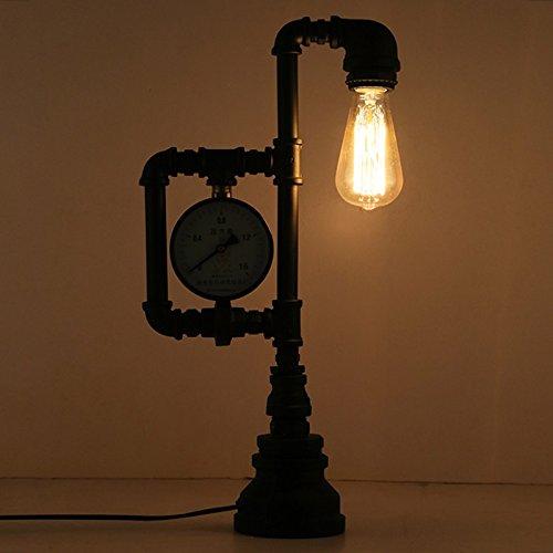 ZWL Loft Iron Retro Lamp, style industriel Restaurant Lights Bar Lamp Warehouse Water Pipe Light Protection des yeux Light Coffee Shop Lampes décoratives E27 Lampes 16 * 49CM fashion.z ( taille : 16*49CM )