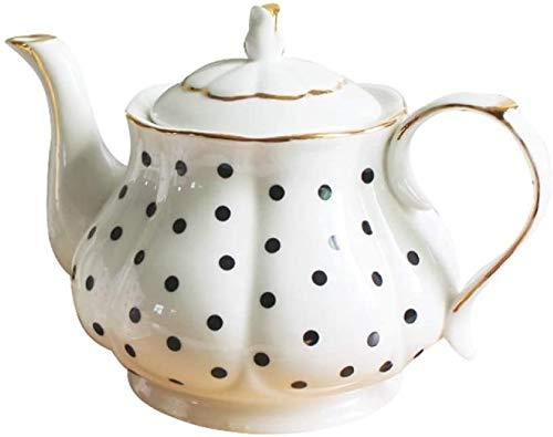 LLDKA Porzellan-Wellen-Punkt-Streifen-Handgemalte Goldschatz Kreativer Kaffee-Tee-Set Einfache englischen Nachmittagstee Kessel Knochen,1