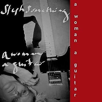 A woman, a guitar