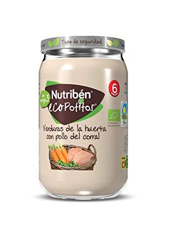 Nutribén Ecopotitos de Pollo de Corral con Verduras Desde los 6 Meses, 235 G