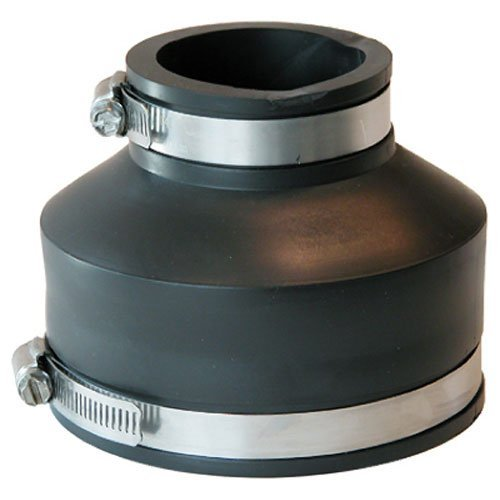 Fernco P1056-415 4-Inch by 1-1/2-Inch Flexible Coupling With Clamp