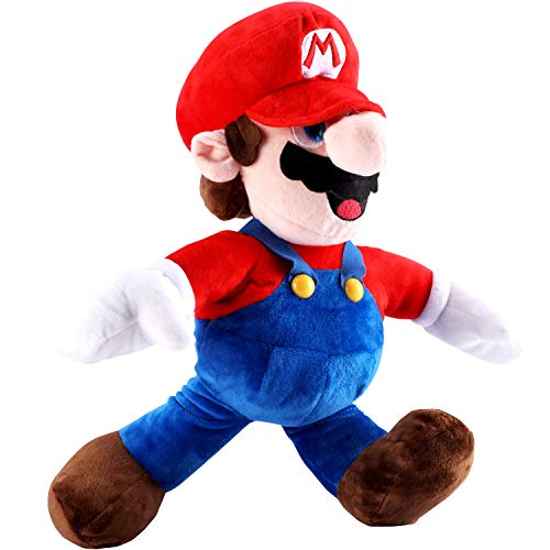 FAIRZOO Super Mario Plush, Mario Soft Stuffed Plush Toy Red - 16.5'