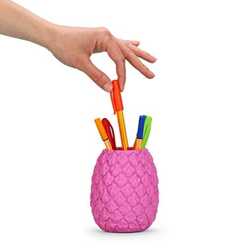 Mustard Totally Tropical Pen Pot - Pink (M16061B)
