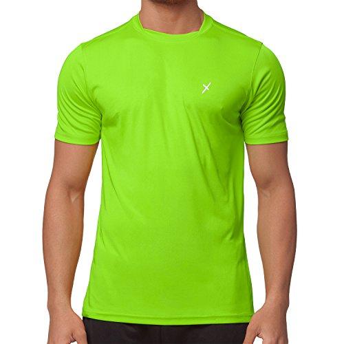 CFLEX Herren Sport Shirt Fitness T-Shirt Sportswear Collection - Electric Green M