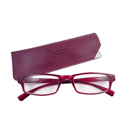 ビグラッド(BEGLAD) 老眼鏡 レッド 度数:+1.50 おしゃれなケース付 BGT1009RD