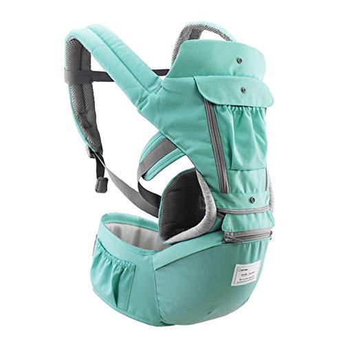 Decdeal Portabebes Ergonómico Transpirable Desmontable Correa Ajustable Bolsillos Laterales Multifuncional Ergonómico Portabebés de Seguridad Cintura Taburete para 0-36 Meses Bebés Niños Pequeños
