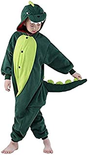 Dinosaur Kids Unisex Onesies Animal Cartoon Siamese Pajamas Home Wear Cosplay Pajamas Flannel Sleepwear Home Clothes for G...
