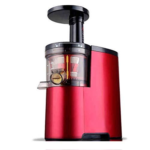 HAJZF Exprimidor eléctrico Frutas Verduras de Baja Velocidad Juice Maker Extractor 150W autolimpiador Ultra-silencioso