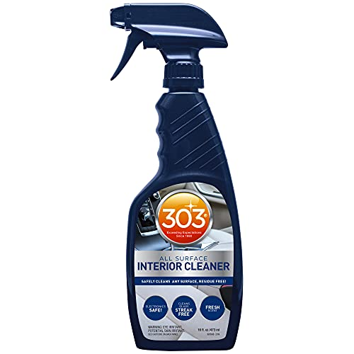 303 Interior Cleaner - All Surface - Safely Cleans Any Surface, Residue Free - Safe for Use on Touchless Touch Screens, Including LCD - Fresh Scent - Cleans Glass Streak Free, 16 fl. oz. (30588CSR)