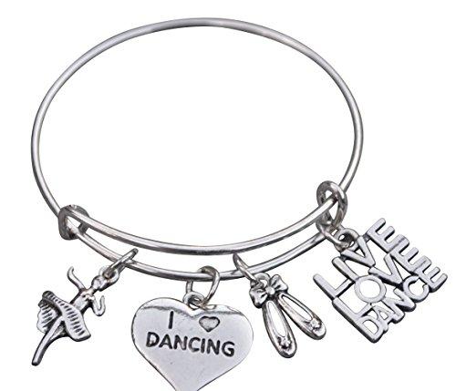 Dance Bangle Bracelet- Dance Jewelry -Gift For Dance Recitals, Dancers and Dance Teams