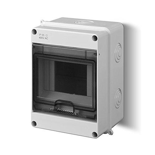 Sicherungskasten Kleinverteiler IP55 Aufputz 5 Module 1-reihig Control LUX-PLUS