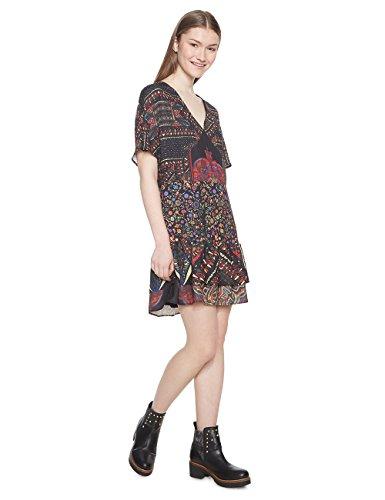 Desigual Vest_Gina Vestido, (Negro 2000), 38 (Talla del Fabricante: 36) para Mujer