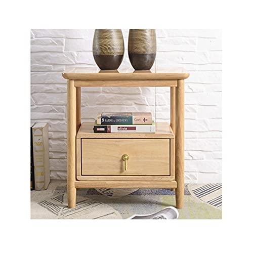 Mesilla de Noche Tablingstandstandstand de la cama de madera, mesa auxiliar de mesa de 2 niveles con cajón, organizador de almacenamiento y estante abierto para dormitorio Mesas de Salon ( Color : B )