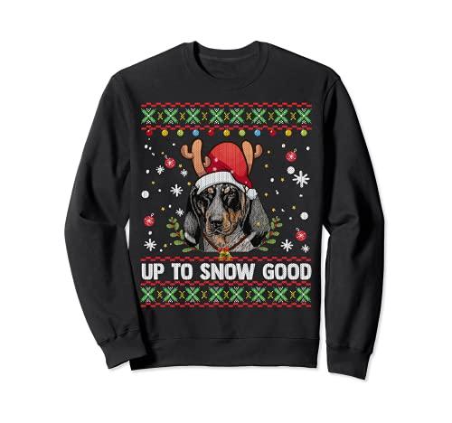 Bluetick Coonhound - Suéter feo de Navidad para perro Sudadera
