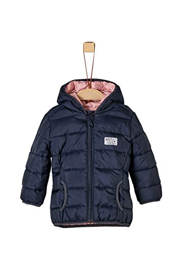 s.Oliver Junior Baby-Mädchen 56.899.51.0755 Jacke, Blau (Dark Blue Printen Stripes 59g1), (Herstellergröße: 80)