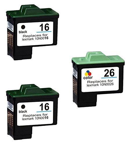 Prestige Cartridge 3 XL Compatibles 16 26 Cartuchos de Tinta para Lexmark I3 X1100 X1150 X1170 X1180 X1190 X1195 X1200 X1270 X2250 X72 X74 X75 Z25 Z35 Z515 Z605 Z615 Z640 | Alta Capacidad