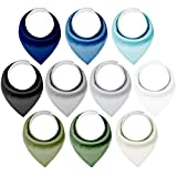 Yoofoss Baby Bibs 10 Pack Soft and Absorbent Baby Bandana Drool Bibs for Boys Girls