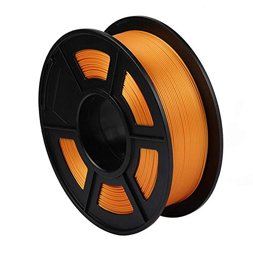 PLA-Seidenfaden 1,75 mm, 3D-Druckerfilament 1kg (2.2lb), Maßgenauigkeit +/- 0,02 mm-Orange