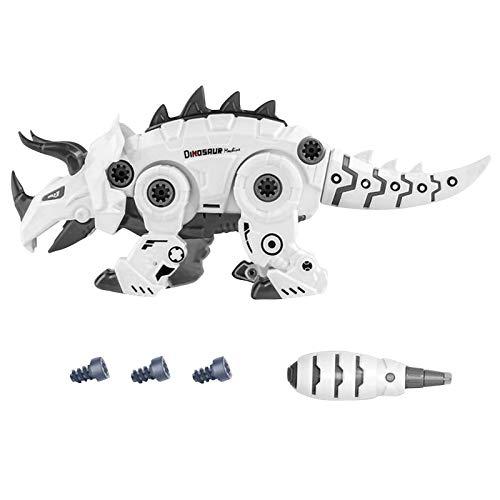 Desmontaje de dinosaurio con luz LED, juguete para niños, montaje y desmontaje de dinosaurios, juguetes, bricolaje, juegos de construcción infantil STEM