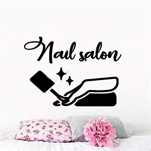 Filles ongles salon manucure mode fenêtre logo polonais décor