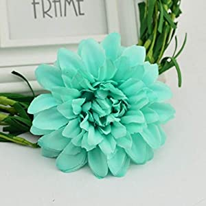 Th4copa0221 5pcs/lot 9.5 cm Artificial Silk Corsage Headdress Dahlia Daisy Chrysanthemum Flowers Handmade DIY Home Decor Head
