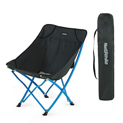 LifeX Camping Fauteuil Pliant en Plein air Portable Pliable Mazar pêche Chaise Pliante Art Peinture Acier Banc Pliant Dossier Dossier Croquis siège (Color : Black)