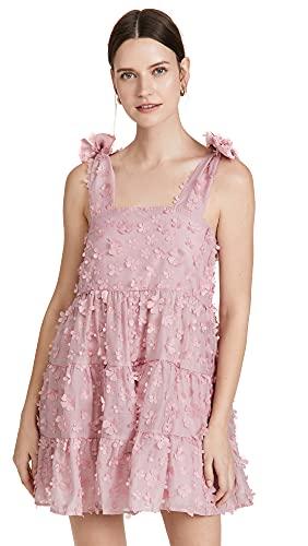 Sister Jane Women's Ramble Blossom Mini Dress, Aurora Pink, Large