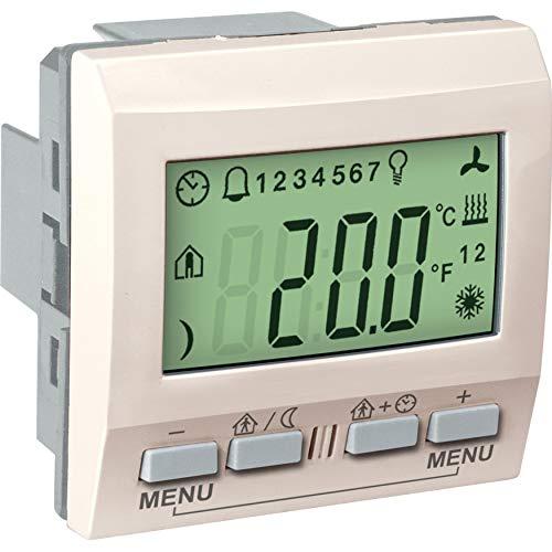 Schneider Elec rls – cco 64 00 – thermostaat met enkele weergave knx ivoorwit