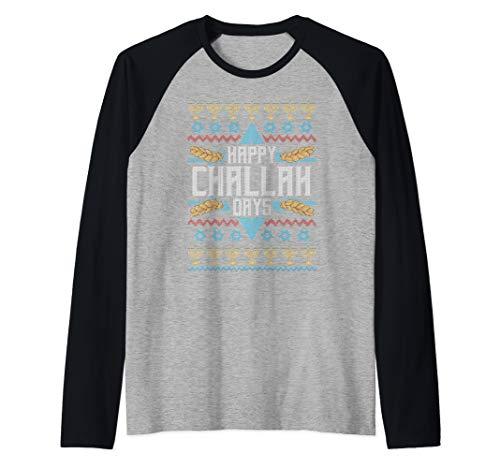Funny Jewish Shirts CHALLAH BREAD Happy Challah Days Raglan Baseball Tee