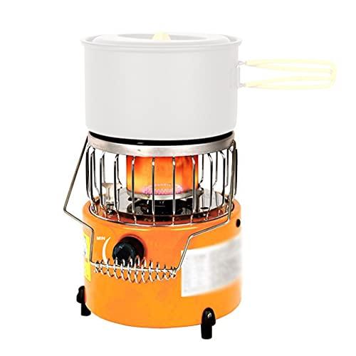 SMDMM Portátil 2 en 1 Estufa de Camping Calentador de Gas Calentador al Aire Libre Propano Bunene Tienda Calentador Cocina Estufa para al Aire Libre Camping Senderismo