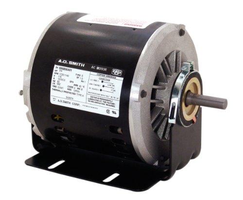 A.O. Smith VB2034 1/3 HP HP, 1725 RPM RPM, 1 Speeds, 56Z Frame, CCWLE Rotation, 1/2-Inch x 1-5/8-Inch Flat Shaft Evaporative Cooler Motor