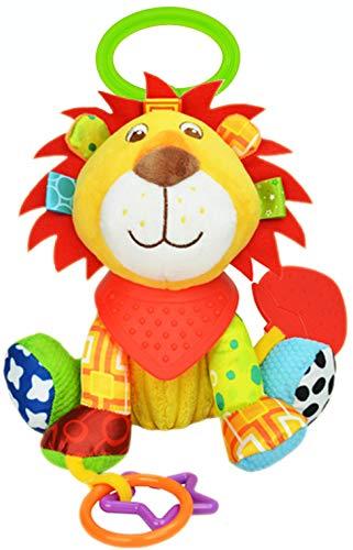OASMU Baby Toys, Pram Toys, Colorful Lion Infant Stroller Toys Washable...