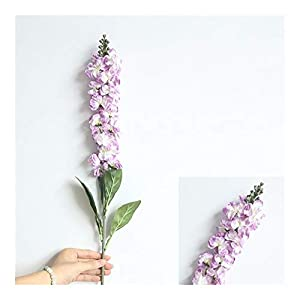 YYJHT Decorative Artificial Flowers Artificial Delphinium Grass Silk Small Fresh Violet Flower Home Party Decor Floral Wedding Decoration Flower Bouquet (Color : Purple)
