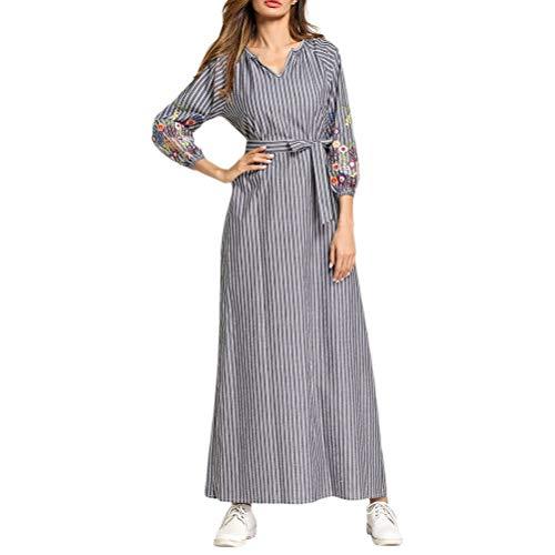 Abaya Modest Lange Maxi Tunika Kleid Kleider Classic Formale Elegent Party Marokkanischen Kaftan Damen Kleider Jungs Tragen (Color : Fashion, Size : M)