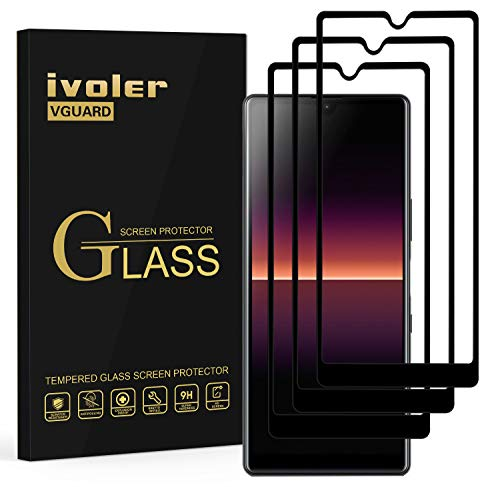 ivoler 3 Stücke Panzerglas Schutzfolie für Sony Xperia L4, [Volle Bedeckung] Panzerglasfolie Folie Hartglas Gehärtetem Glas BildschirmPanzerglas für Sony Xperia L4