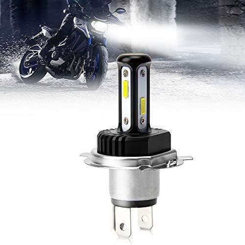 OPL5 Ampoule H4 LED Moto Puissante, Version 2020 Mise À Niveau 3 Côtés 360 Degrés COB Ampoule H4 LED Moto Phare, 5000LM 35W 6000K Blanc Kit De Conversion de Extrêmement Lumineux pour Phare Moto(1 Pcs)