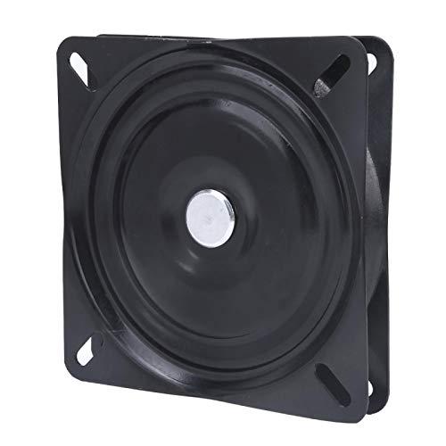 Jeanoko Schwarzer Desktop-Plattenspieler Schwarzer Metall-Plattenspieler Praktische rotierende Display-Basis Glatte Oberfläche für Bürostuhl für Display-Ständer