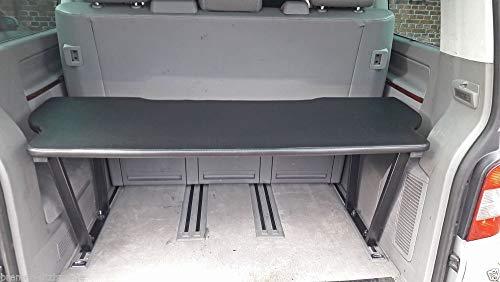 VW T5 & T6 Multivan Multiflexboard Bettverlängerung inkl.MDF Platte 53 cm hoch (Schwarz)